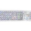 Sequin 4mm Square 5 Row Trim 2.5cm Width Silver Hologram